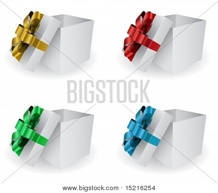 opened gift box - vector