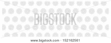 Black and white floral background with snowflake ornament. Seamless repeating pattern. Vector illustration.