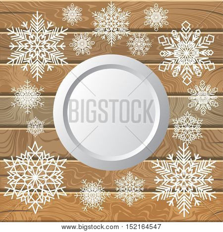 Decorative background composed of winter snowflakes.