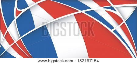 Abstract background with colors of France flag - Vector image
