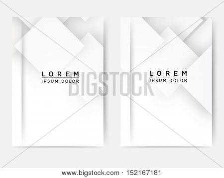 Set of Modern Minimal Abstract Flyer - EPS10 Brochure Design Templates