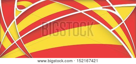 Abstract background with colors of Spain flag - Vector image