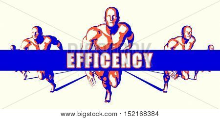 Efficency as a Competition Concept Illustration Art