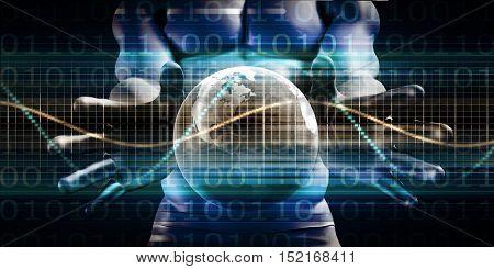 Access Control Security Platform and Global Surveillance 3d Illustration Render