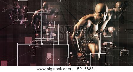 B2B Business to Business Concept as Abstract 3d Illustration Render
