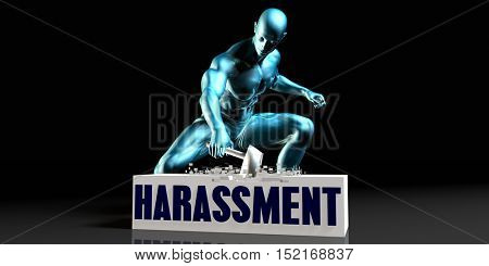 Get Rid of Harassment and Remove the Problem 3d Illustration Render