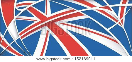 Abstract background with colors of United Kingdom flag - Vector image