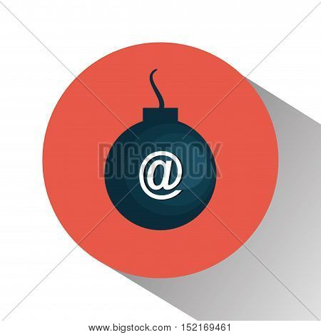 boom with arroba symbol vector illustration design