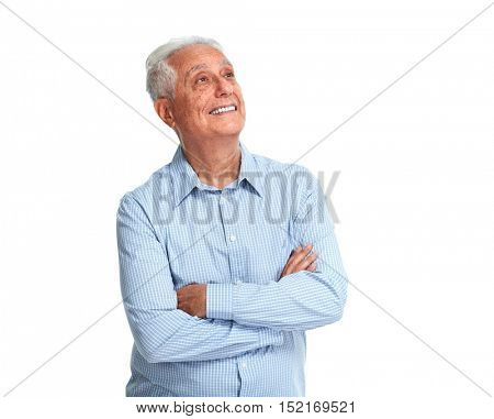 Senior man portrait.