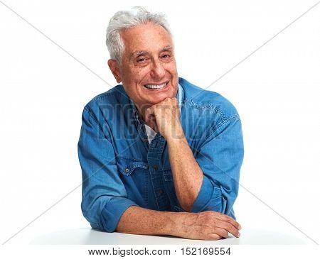 Aged man portrait.