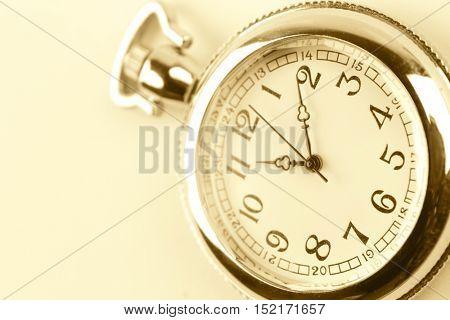 Close-up of pocket watch