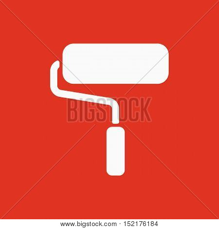 The paint roller icon. Decorating and painting, repair symbol. Flat Vector illustration