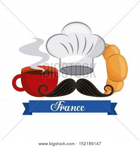 french culture set icons vector illustration design