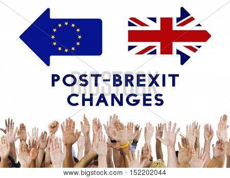 Brexit Britain Leave European Union Quit Referendum Concept