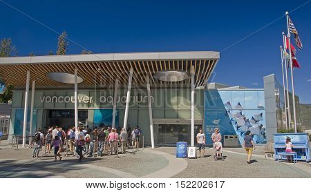 Vancouver, Canada - August 24, 2016: The Entrance To The Aquariu