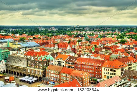 View of the city hall of Lubeck in Germany