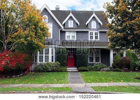 Beautiful upscale home in a Canadian neighborhood.