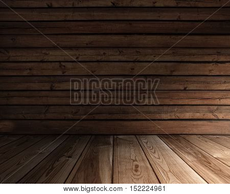 old wooden interior, grunge background