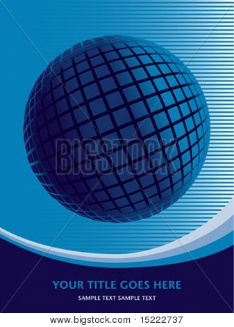 Colorful globe design with copy space vector.