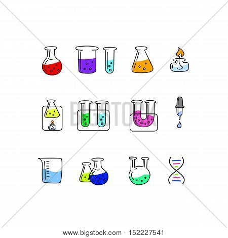 Great designed chemistry vector icons for illustrations