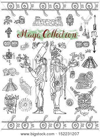 Set Mayan Inca Vector Photo Free Trial Bigstock