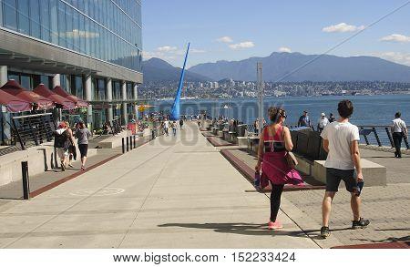 Vancouver, Canada - August 27, 2016: Vancouver Convention Centre