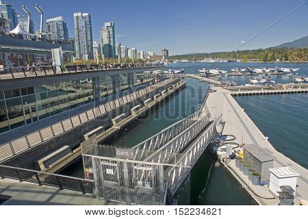 Vancouver, Canada - August 27, 2016: Airport At Coal Harbor Vanc