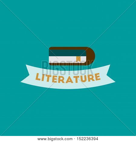 flat icon on stylish background Literature lesson