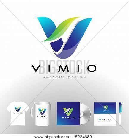Letter V Logo. V Logo. V Icon. Corporate Letter V Logo Vector