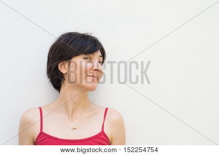 Profile of a Young Woman With Her Head Turned Right