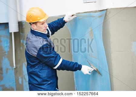 Fiberglass reinforcing plastering mesh used for plaster work