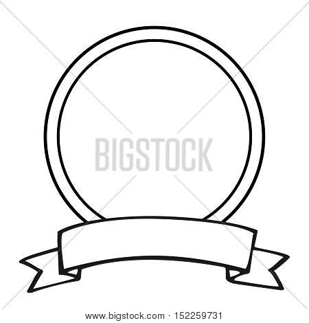 Empty vector frame isolated on white background