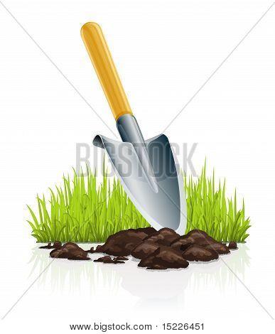 Garden Scoop And Grass