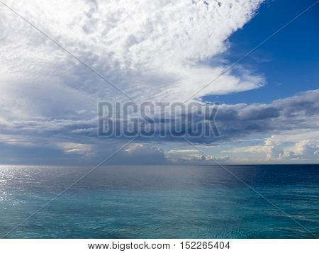 Clouds over the sea on the island Zanzibar, Tansania