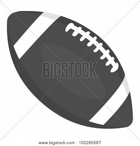 Rugby ball icon monochrome. Single sport icon from the big fitness, healthy, workout monochrome.