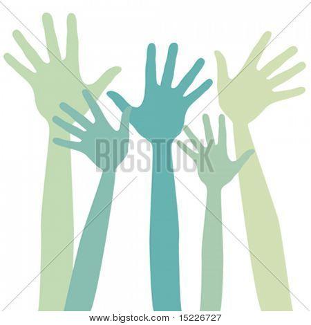 Happy hands design.
