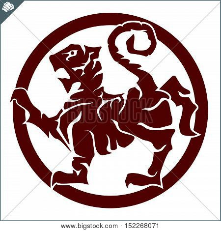 Martial arts. Karate shotokan tiger logo plakat, poster. Vector. EPS.