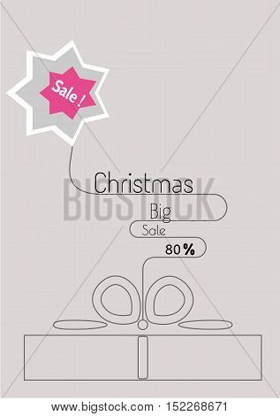 Christmas Special Offer Sale Poster In Flat Style