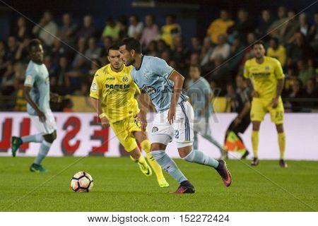 VILLARREAL, SPAIN - OCTOBER 16th: Cabral with ball during La Liga soccer match between Villarreal CF and R.C. Celta de Vigo at El Madrigal Stadium on October 16, 2016 in Villarreal, Spain