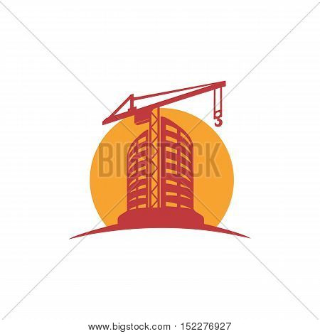 Sketch line flat design of business city architecture, commercial building and construction, bank and small firm office. Modern vector illustration concept, isolated on white background