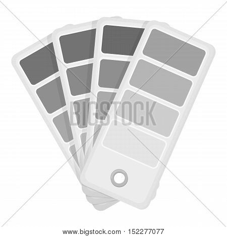 Color swatches icon in monochrome style isolated on white background. Typography symbol vector illustration.