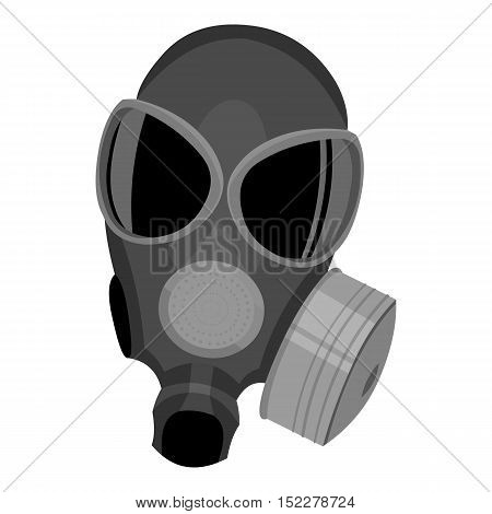 Gas masks icon monochrome. Single weapon icon from the big ammunition, arms monochrome.