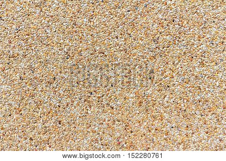 Small sand stone of sand wall texture or sand wall background. Natural brown sand stone for design with copy space for text or image.