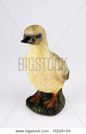 Posing Duck Figure shot on plain background poster
