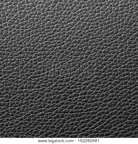 Black leather texture or leather background for design with copy space for text or image. Rough leather fabric.