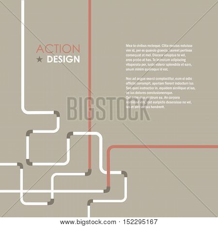 Pipe fitting vector set. Pipeline vector illustration. Gas pipe. Water pipe. Water pipe. Pipe system background.