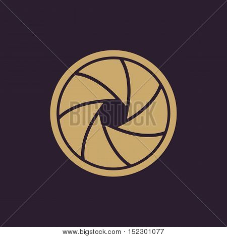 The diaphragm icon. Aperture symbol. Flat Vector illustration