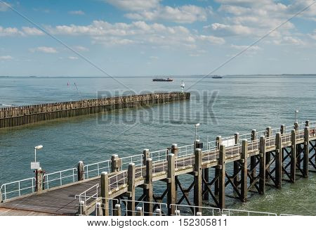 The harbor of Vlissingen, strategicaly located on the Scheldt river and the North Sea