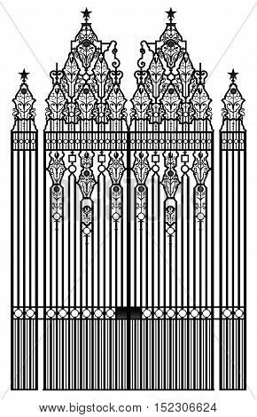 Rashtrapati Bhavan residence gate official home of president of India new delhi southeast asia detailed precise vector