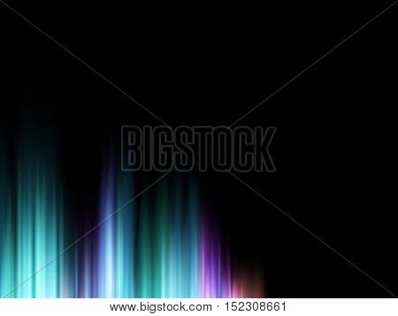 Abstract vector shiny background with glow colorful sound wave. Colorful aurora. Vector illustration